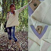 """Одежда ручной работы. Ярмарка Мастеров - ручная работа Вязаный пуловер оверсайз """"Тёплые сливки"""". Handmade."""