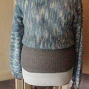 Одежда ручной работы. Ярмарка Мастеров - ручная работа Воздушный мохеровый свитер серо-голубой. Handmade.