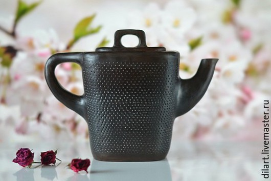 Чайники, кофейники ручной работы. Ярмарка Мастеров - ручная работа. Купить Керамический заварочный черный чайник Самурай. Handmade. Чайник