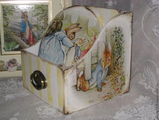 """Детская ручной работы. Ярмарка Мастеров - ручная работа. Купить Набор """"Любимые сказки"""". Handmade. Декупаж, кролики"""