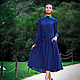 Платья ручной работы. Ярмарка Мастеров - ручная работа. Купить Классическое Оксфордское платье. Handmade. Тёмно-синий, платье длинное