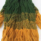 Одежда ручной работы. Ярмарка Мастеров - ручная работа Кардиган в стиле Лало (градиент из кос). Handmade.