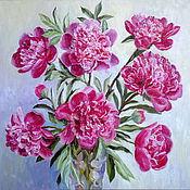 """Картины и панно ручной работы. Ярмарка Мастеров - ручная работа Картина """"Букет розовых пионов"""". Handmade."""