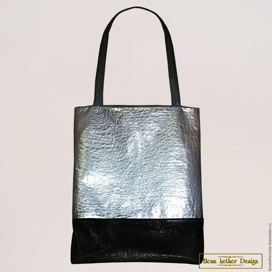 Женские сумки ручной работы. Ярмарка Мастеров - ручная работа. Купить Женская кожаная сумка - пакет. Handmade. сумка из кожи