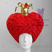 Одежда handmade. Livemaster - original item Wig of Red Qween. Accessories to suits. Handmade.