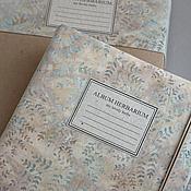 Канцелярские товары handmade. Livemaster - original item Album for a herbarium a walk in the woods (A4, 15 plants). Handmade.
