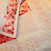 Для дома и интерьера ручной работы. Ярмарка Мастеров - ручная работа Лоскутное одеяло и подушка для малышки.. Handmade.