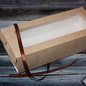 Материалы для творчества ручной работы. Ярмарка Мастеров - ручная работа Крафт коробочка с окошком пенал. Handmade.