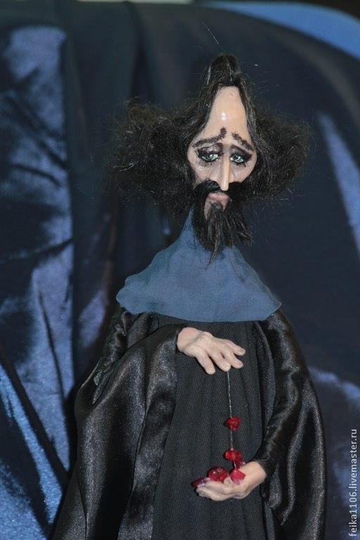 Сказочные персонажи ручной работы. Ярмарка Мастеров - ручная работа. Купить Чёрный волшебник. Handmade. Пластик, муми-тролли, черный