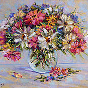 Картины и панно handmade. Livemaster - original item Oil painting on canvas flowers Gerberas, bouquet in a vase painting. Handmade.