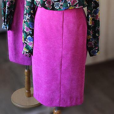 Одежда ручной работы. Ярмарка Мастеров - ручная работа Юбка вельветовая розовая. Handmade.