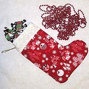Подарки к праздникам ручной работы. Ярмарка Мастеров - ручная работа Рождественский носок для подарков. Handmade.