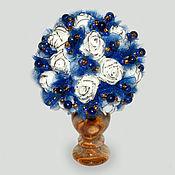Цветы и флористика handmade. Livemaster - original item Flowers: Flowers made of lapis lazuli