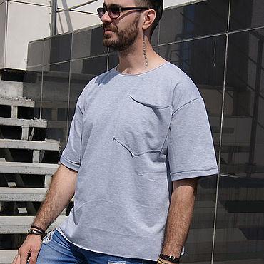 Clothing handmade. Livemaster - original item Men`s grey jacket-short sleeve t-shirt. Grey lightweight jacket.. Handmade.