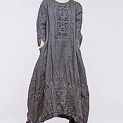 Одежда ручной работы. Ярмарка Мастеров - ручная работа Льняное бохо платье 4-19. Handmade.