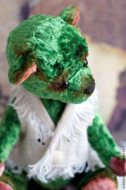 """Мишки Тедди ручной работы. Ярмарка Мастеров - ручная работа. Купить Тедди мишка """"Зеленый"""". Handmade. Зеленый, упрямый"""