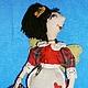 Сказочные персонажи ручной работы. Ярмарка Мастеров - ручная работа. Купить текстильная кукла Домашняя феечка. Handmade. Ярко-красный