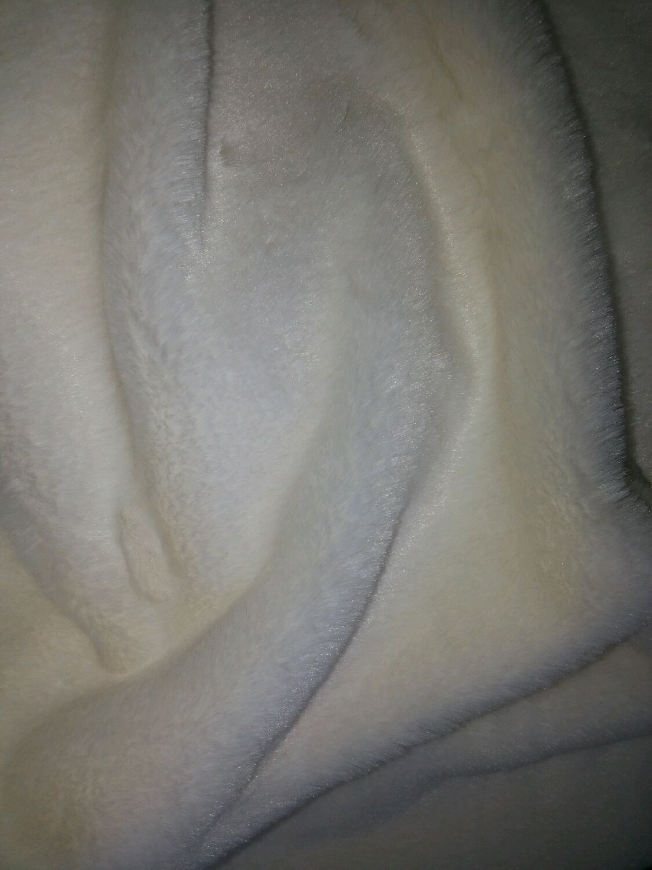 Искусственный мех кролик белый ворс 10 мм, Мех, Санкт-Петербург,  Фото №1