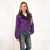 Одежда ручной работы. Ярмарка Мастеров - ручная работа Жакет короткий фиолетовый. Handmade.