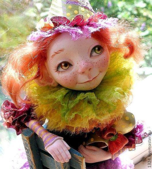 """Коллекционные куклы ручной работы. Ярмарка Мастеров - ручная работа. Купить Кукла """"А клоуны остались."""". Handmade. Брусничный"""