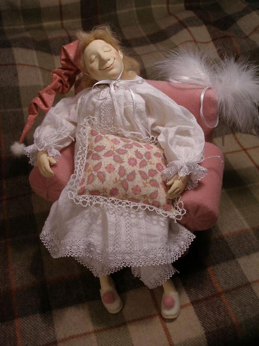 Коллекционные куклы ручной работы. Ярмарка Мастеров - ручная работа. Купить Спящий ангел авторская кукла болтушка из ладолла 35см. Handmade.