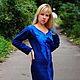 """Платья ручной работы. Ярмарка Мастеров - ручная работа. Купить валяное платье """"GRADO style"""". Handmade. Тёмно-синий, платье"""