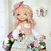 Куклы и игрушки ручной работы. Ярмарка Мастеров - ручная работа Вивьен, текстильная кукла. Handmade.