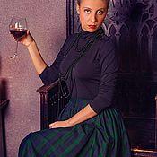 Одежда ручной работы. Ярмарка Мастеров - ручная работа Юбка пышная из шотландки MacLeod 70 см с карманами. Handmade.