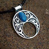 Украшения handmade. Livemaster - original item Lunnitsa with turquoise (or another stone of your choice). Handmade.