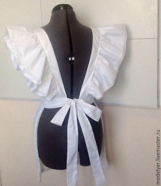 Одежда для девочек, ручной работы. Ярмарка Мастеров - ручная работа. Купить Школьный фартук / хлопок , белый. Handmade. Белый