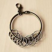 Фурнитура для шитья ручной работы. Ярмарка Мастеров - ручная работа Кольцо для ключницы 8,5 см. Handmade.