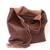 Сумки и аксессуары handmade. Livemaster - original item Red tote Bag large leather bag Bag shopper Mike. Handmade.