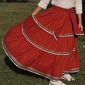 Одежда ручной работы. Ярмарка Мастеров - ручная работа юбка из твида Барыня. Handmade.