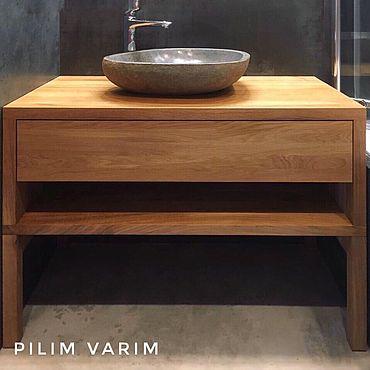 Для дома и интерьера ручной работы. Ярмарка Мастеров - ручная работа Тумба под раковину в ванную. Handmade.