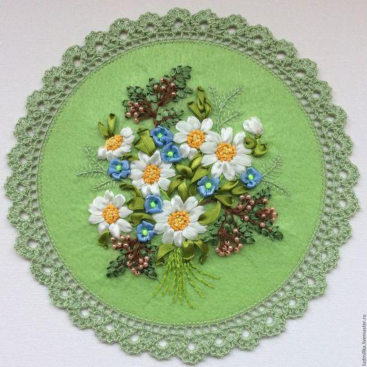 """Картины цветов ручной работы. Ярмарка Мастеров - ручная работа. Купить Вышивка лентами """"Весна"""". Handmade. Вышивка лентами"""