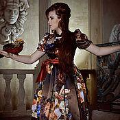 """Одежда ручной работы. Ярмарка Мастеров - ручная работа шелковое платье""""барокко"""". Handmade."""