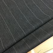 Материалы для творчества handmade. Livemaster - original item Pique black pinstriped. Handmade.