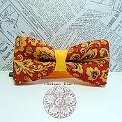 Ties handmade. Livemaster - original item Bow tie Khokhloma/ Russian/ national/ pattern Hohloma. Handmade.