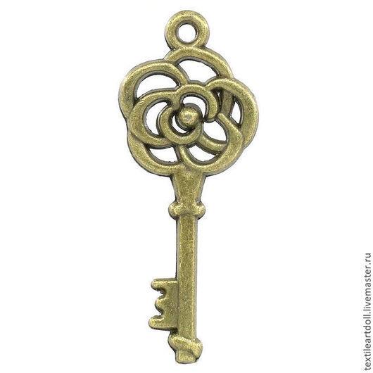 """Для украшений ручной работы. Ярмарка Мастеров - ручная работа. Купить К02442 Подвеска """"Ключ"""" античная бронза. Handmade. Ключ"""