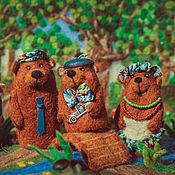 Куклы и игрушки ручной работы. Ярмарка Мастеров - ручная работа сказка Три медведя. Handmade.