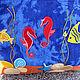 """Женские сумки ручной работы. Заказать Сумка """"Любовь как море"""". Imaginelli. Ярмарка Мастеров. Аппликация, синий, сумка для отдыха"""