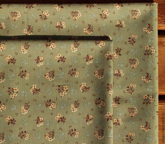 Шитье ручной работы. Ярмарка Мастеров - ручная работа. Купить Ткань для пэчворка. Handmade. Ткань для рукоделия, хлопок корея, хаки