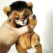 Куклы и игрушки ручной работы. Ярмарка Мастеров - ручная работа Львенок. Коллекционная игрушка тедди лев. Handmade.