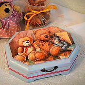 """Для дома и интерьера ручной работы. Ярмарка Мастеров - ручная работа Шкатулка """"Любимые игрушки"""", шкатулка для девочки. Handmade."""