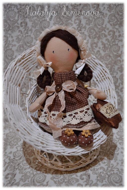 Человечки ручной работы. Ярмарка Мастеров - ручная работа. Купить КофЕюшка-2, куколка-малышка, кофе с молоком, ангел. Handmade.