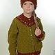 Одежда для девочек, ручной работы. Ярмарка Мастеров - ручная работа. Купить кофта и шапочка для девочки. Handmade. Оливковый, вязание, зима
