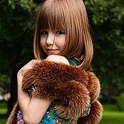 Одежда ручной работы. Ярмарка Мастеров - ручная работа Детская жилетка с отделкой из меха песца. Handmade.
