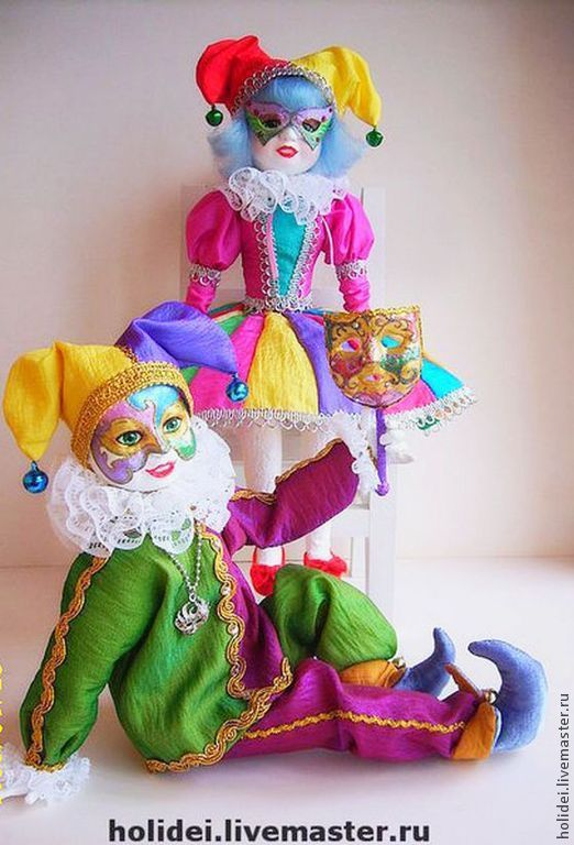 Collectible Dolls handmade. Livemaster - handmade. Buy Dolls harlequin and Columbine.Carnival, interior doll, gift, crystals