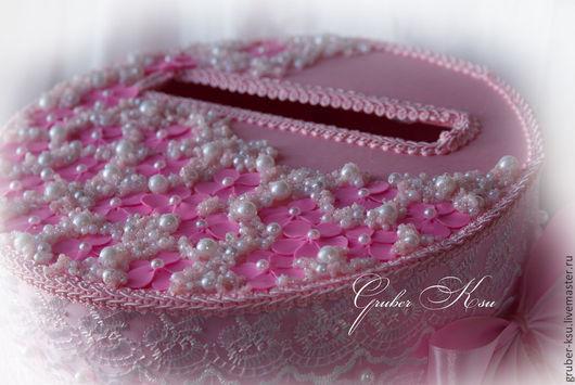 """Свадебные аксессуары ручной работы. Ярмарка Мастеров - ручная работа. Купить Казна в виде торта """"Мокко"""" в розовом. Handmade. Розовый"""