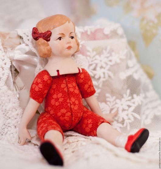Коллекционные куклы ручной работы. Ярмарка Мастеров - ручная работа. Купить Кукла фарфоровая Люсенька. Handmade. Фарфор, бежевый, синтепух